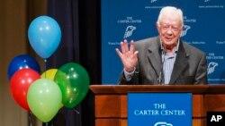 10月1日前美國總統和第一夫人在亞特蘭大的卡特中心迎來90歲生日。