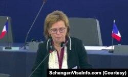 یورپی پارلیمنٹ کی رکن ڈومینک بلڈے،