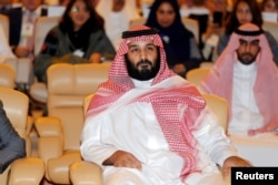 FILE - Saudi Crown Prince Mohammed bin Salman, attends the Future Investment Initiative conference in Riyadh, Saudi Arabia, Oct. 24, 2017. In view of the recent crackdown in the kingdom, many investors are now taking a wait-and-see appoach.