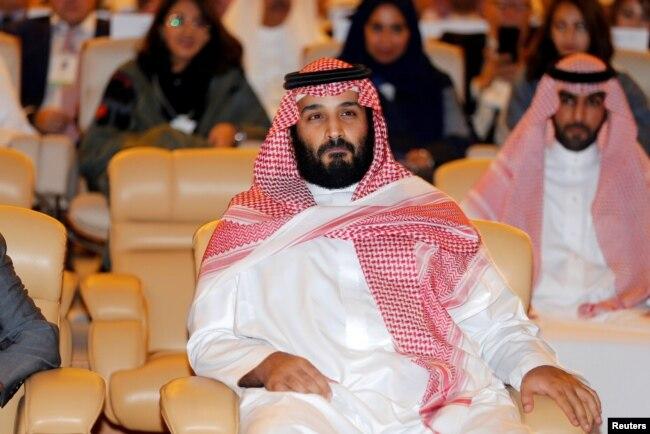 Putra Mahkota Kerajaan Arab Saudi, Pangeran Mohammed bin Salman di Riyadh, Arab Saudi, 24 Oktober 2017.