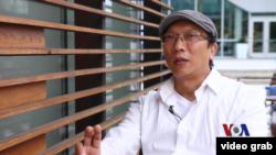 空軍紀錄片<沖天> 台灣導演張釗維接受美國之音訪問。(視頻截圖)