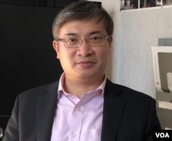 桑普,香港知名时政评论人、律师(雨舟拍摄,2019年11月17日)
