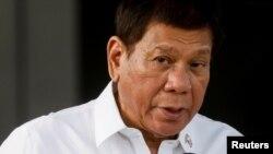 Tổng thống Philippines Rodrigo Duterte phát biểu hôm 28/2/2021.