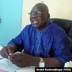 Gounoung Vaïma Ganfaré, secrétaire générale de l'UST à N'djamena, le 13 decembre 2017. (VOA/André Kodmadjingar).