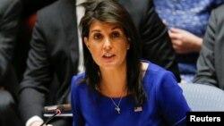 Duta besar Amerika untuk PBB, Nikki Haley