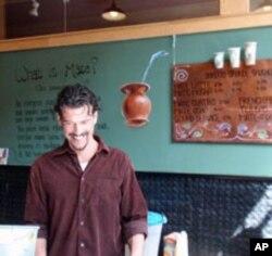 Santiago Casanueva owns Top Leaf Mate Bar in Bend, Oregon.
