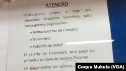 Nota da Direcção da Rádio Ecclesia, Angola