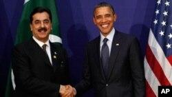 巴基斯坦總理吉拉尼與奧巴馬總統在首爾會面