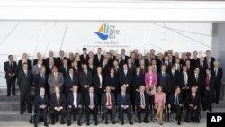 Các bộ trưởng tài chánh khu vực đồng euro họp tại thủ đô Nicosia, Cyprus, 14/9/2012
