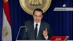 مبارک: تا انتخابات، رییس جمهوری می مانم