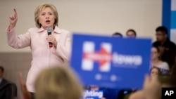 希拉里.克林頓在愛奧華州總統競選活動中