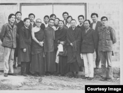 FILE - Lodi Gyari, second from left, with the Tibetan Youth Congress founders.