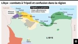 Carte du contrôle des territoires en Libye au 4 septembre