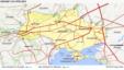 یوکرین کی گیس پائپ لائنوں کا نقشہ جن کے ذریعے روسی گیس یورپ پہنچتی ہے