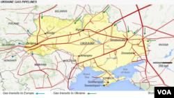 Карта газопроводів в Україні