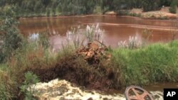 All form of life of life has disappeared in this contaminated lake near Randfontein, about 45 kilometers outside Johannesburg, South Africa, January 2012.