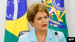 FILE - Brazilian President Dilma Rousseff