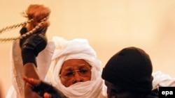 Hissène Habré lors de son procès à Dakar, le 20 juillet 2015 epa