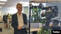Novinarka ruske redakcije Glasa Amerike Natalka Pisnya