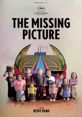 "An undated photo released by Bophana Center shows a poster of ""The Missing Picture"" directed by Cambodian film director Rithy Panh."