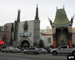 好莱坞星光大道上的格劳曼中国剧院