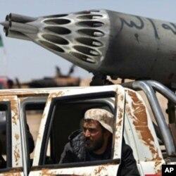 Un rebelle libyen