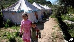 지난달 14일 레바논 베이루트 난민 수용소의 시리아 난민들.
