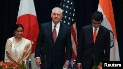 Ba ngoại trưởng Ấn, Mỹ, Nhật từng gặp nhau tại New York hồi tháng 9/2017