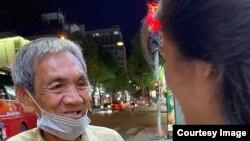 Cô Nguyễn Đỗ Trúc Phương và ông Võ Văn Sơn. (Hình: Facebook Trúc Phương Nguyễn Đỗ)