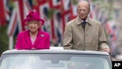 Foto de junio del año pasado de la reina Isabel II y el príncipe Felipe de Inglaterra. El príncipe anunció su retiro de actos públicos a partir del otoño.