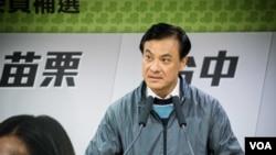 民進黨競選負責人蘇嘉全(美國之音記者方正拍攝)