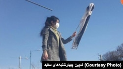 Women protest the Hijab, Iran. (File)