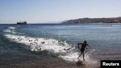Các vận động viên ba môn phối hợp (triathlon) hoàn thành chặng bơi 1.8 km. (ảnh tư liệu)