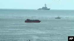 Корабль ВМС США у побережья штата Вашингтон.