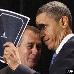 Prezident Obama va bo'lajak spiker Jon Beyner