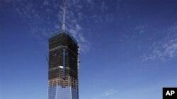 9.11 테러 당시 붕괴된 세계무역센터 자리에 세워진 `원 월드 트레이드 센터'