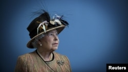 FILE - Britain's Queen Elizabeth II. The comments, which became public Wednesday, were unusual because the 90-year-old monarch has been careful to steer clear of politics during her long reign.