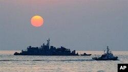 韩国控制的延坪岛附近海域(2010年12月22日)