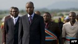 L'ancien Premier ministre de la RDC Adolphe Muzito à Goma, le 4 novembre 2008.