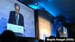 """Ban-Ki-Moon au sommet sur le climat """"Climate Action"""""""