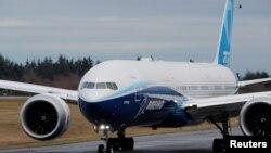 波音公司新研製的777X型客機1月25日首次試飛成功。