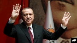 Presiden Turki Recep Tayyip Erdogan di Ankara, 26 Januari 2018.