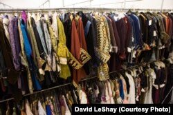 Costumes are organized by type of item or by time period.