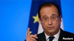 Le président François Hollande à la conférence annuelle des ambassadeurs à Paris, le 27 août 2013