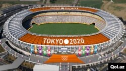 Gambar komputer rencana stadion Olimpiade 2020 di Tokyo, Jepang (foto: ilustrasi).