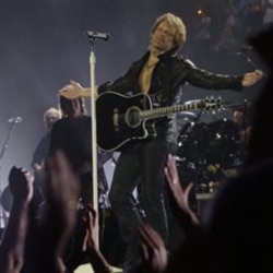 Bon Jovi performing in London last June