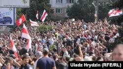 Минск, Пушкинская площадь, 15 августа