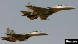 印度空军的苏30战斗机 - 资料照片