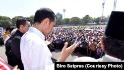 Sebelum bertolak ke Palu, Presiden Joko Widodo melangsungkan doa bersama bagi korban gempa dan tsunami di Sulawesi Tengah, Minggu, 30 September 2018,