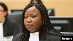 Chief Prosecutor Fatou Bensouda at the International Criminal Court in The Hague, Feb. 10, 2014